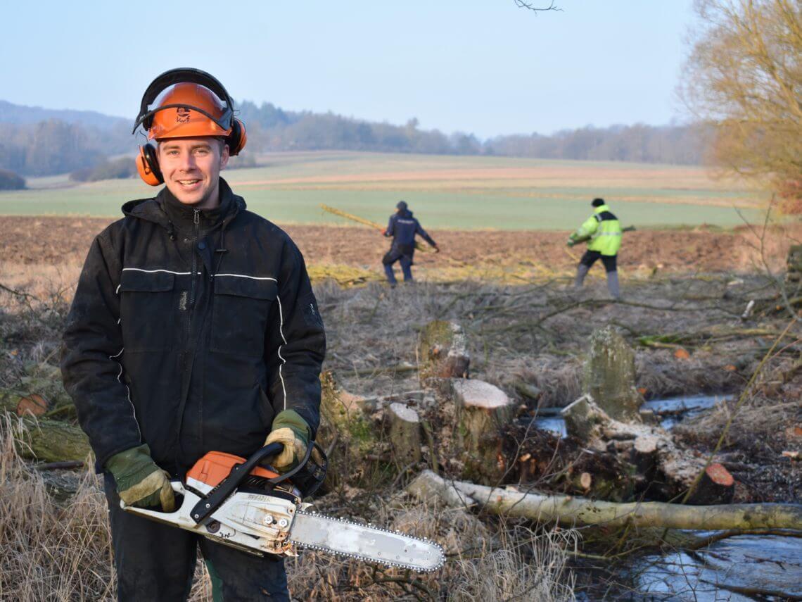 Bäume fällen für Naturschatz (c) Johannes Heckmann