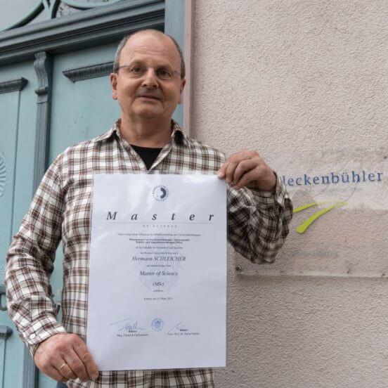 Gratulation: Master mit 59 Jahren